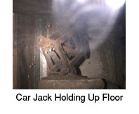 queens home inspector finds car jack supporting floor